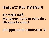 Haïku n°218 du 111016