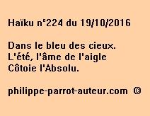 Haïku n°224 du 191016