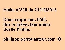 Haïku n°226 du 211016