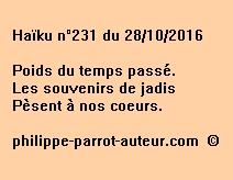 Haïku n°231 du 281016