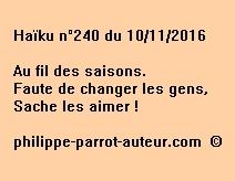 Haïku n°240 du 101116