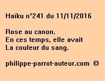 Haïku n°241 du 111116