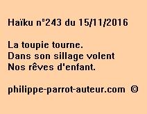 Haïku n°243 du 151116