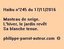 Haïku n°245 du 171116