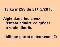 Haïku n°259 du 211216