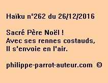 Haïku n°262 du 261216