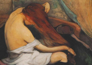 """242 - Femme brossant ses cheveux"""", par Wladyslaw Slewinski, 1897"""