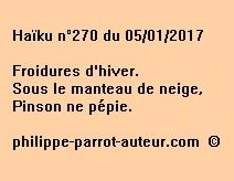 Haïku n°270 du 050117