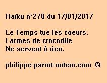 Haïku n°278 du 170117
