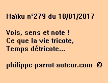 Haïku n°279 du 180117
