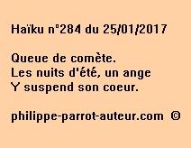Haïku n°284 du 250117