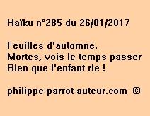 Haïku n°285 du 260117
