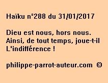 Haïku n°288 du 310117