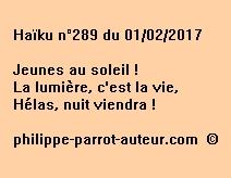 Haïku n°289 du 010217