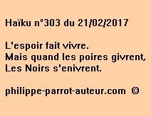 Haïku n°303 du 210217