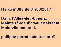 Haïku n°309 du 010317