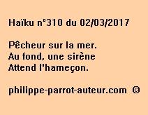 Haïku n°310 du 020317