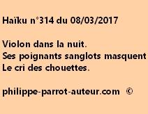 Haïku n°314 du 080317