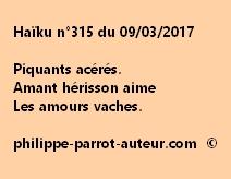 Haïku n°315 du 090317