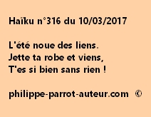 Haïku n°316 du 100317