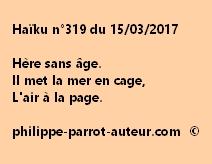 Haïku n°319 du 150317
