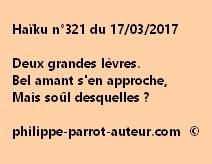 Haïku n°321 du 170317