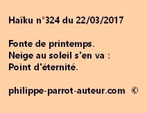 Haïku n°324 du 220317