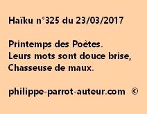 Haïku n°325 du 230317