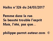Haïku n°326 du 240317