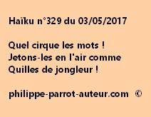 Haïku n°329 du 030517