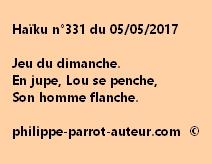 Haïku n°331 du 050517