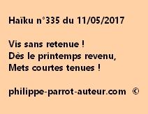 Haïku n°335 du 110517