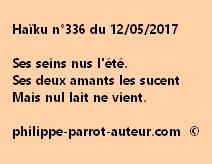 Haïku n°336 du 120517