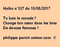 Haïku n°337 du 150517