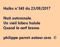 Haïku n°343 du 230517