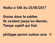 Haïku n°345 du 250517