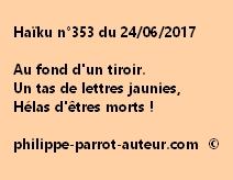 Haïku n°353 du 240617