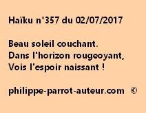 Haïku n°357 du 020717