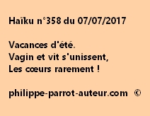Haïku n°358 du 070717
