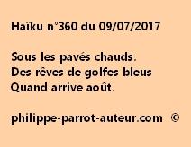 Haïku n°360 du 090717