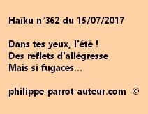Haïku n°362 du 150717
