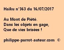 Haïku n°363 du 160717