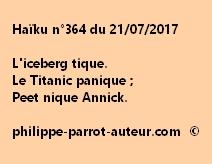 Haïku n°364 du 210717