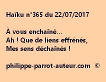 Haïku n°365 du 220717