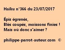 Haïku n°366 du 230717