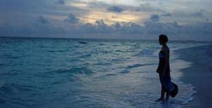277 - Jeune fille dans les flots