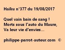 Haïku n°377 du 190817