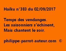 Haïku n°383 du 020917