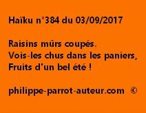 Haïku n°384 du 030917