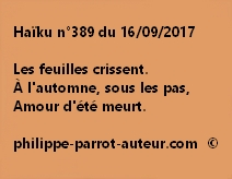 Haïku n°389 du 160917